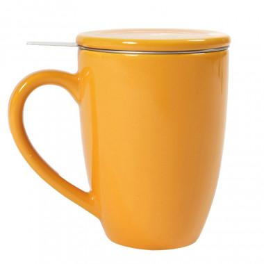 Tisanière céramique filtre inox orange 360ml
