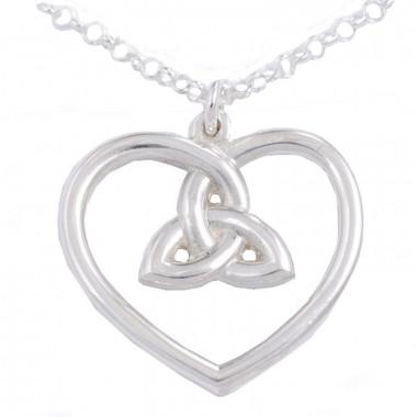 Pendentif Argent Coeur 3 Loop Knot