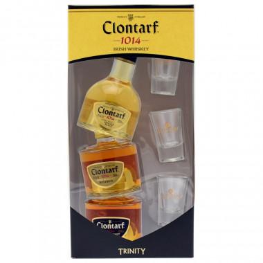 Clontarf Trinity 3 x 20cl + 3 verres 40°