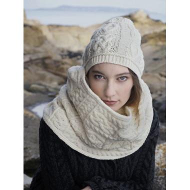 Bonnet Aran Ecru Inis Craft
