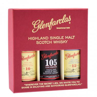 Glenfarclas Collection 10 ans/12 ans/105 3x5cl