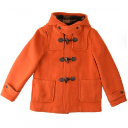 Duffle-Coat Court Erica Orange Brûlé