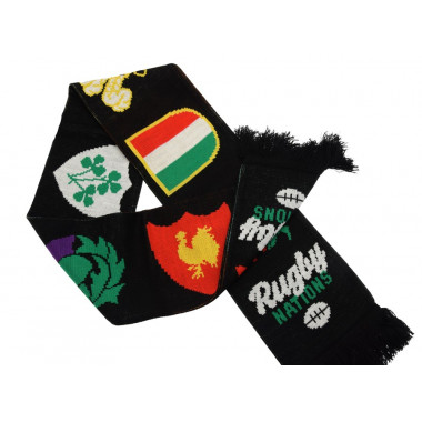 Echarpe Rugby Nations Noire