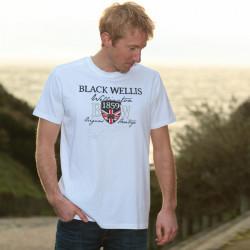 T-Shirt Blanc Heritage Black Wellis