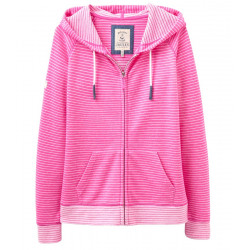 Sweat à Capuche Rayé Rose Joules