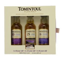 Tomintoul Coffret 10-16-25 ans 3x5cl 40°