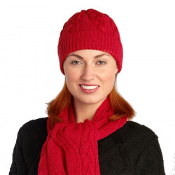 Bonnet Torsadé Rouge Inis Crafts