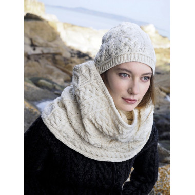 Snood Aran Ecru Inis Crafts