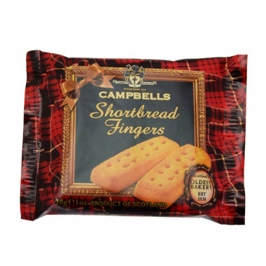 Shortbreads Fingers Snack Campbells 30g