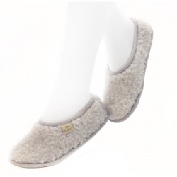 Chaussons Ballerines Laine Anthracite Alwero