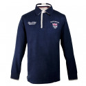 Polo de Rugby Heritage Marine Black Wellis