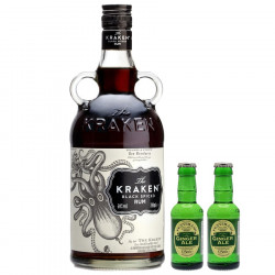 Kraken Black Spiced Rhum 70cl 40° & 2 Ginger Ale 12,5cl
