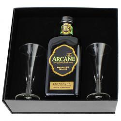 Coffret Rhum Arcane Extraroma 70cl 40° + 2 verres