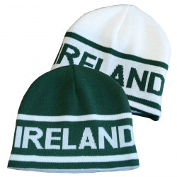 Bonnet Supporter Ireland Réversible Vert & Blanc