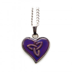 Celtic Magic Knot & Heart Pendant