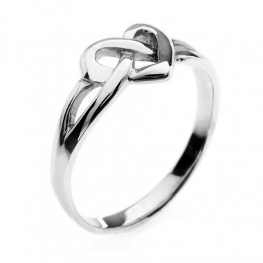 Celtic Heart Silver Ring