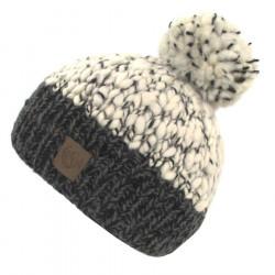 Kusan Anthracite Pompon Hat