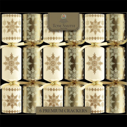 Tom Smith Gold & Cream Premium Christmas Crackers x6