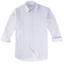 Out Of Ireland White Shirt with Blue Flowers