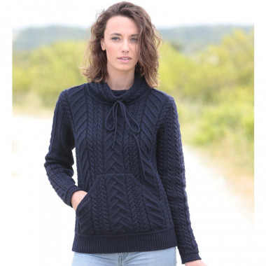 Pull Sweat Poche Kangourou Marine Inis Crafts