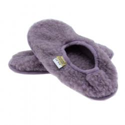 Alwero Lilac Wool Ballerina Slippers