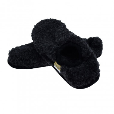 Alwero Anthracite Shorty Wool Slippers