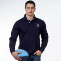 Ruckfield Navy Blue and Pink Polo