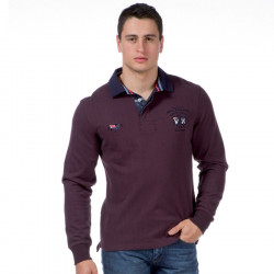 Polo Manches Longues Bordeaux Ruckfield