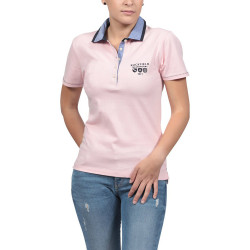 Ruckfield Pink Stitched Polo Shirt