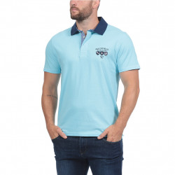 Ruckfiel Jersey Short Sleeves Tusquoise Polo Shirt