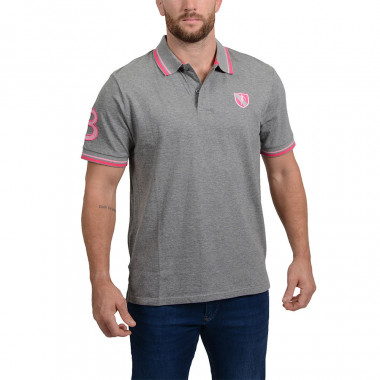 Ruckfield Grey Essential Piqué Polo