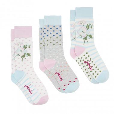 Tom Joule Flowers Socks x3