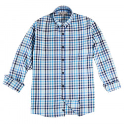 Out Of Ireland Vichy Blue and Turquoise Shirt