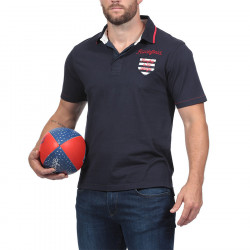 Ruckfield Navy Blue Short Sleeves Jersey Polo