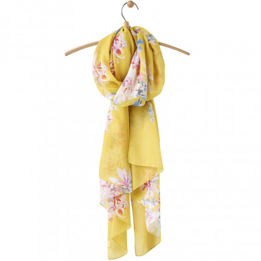 Tom Joule Yellow Printed Scarf
