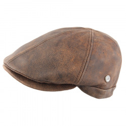Celtic Alliance Brown Aged Leather Cap