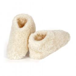 Alwero Beige Wool Skipper Slippers