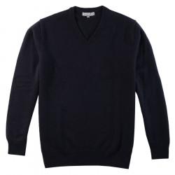 Best Yarn Navy V Collar Sweater