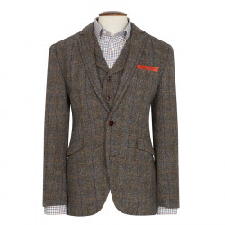 Brook Taverner Sumburgh Harris Tweed Brown and Beige Jacket