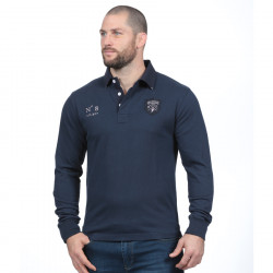 Polo homme manches longues we are rugby marine ruckfield