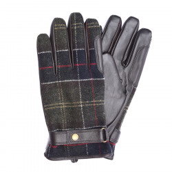 Gants Newbrought Cuir Tartan Barbour