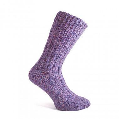 Chaussettes courtes violet 336 donegal socks