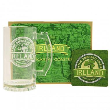 Coffret Verre et Coaster Ireland