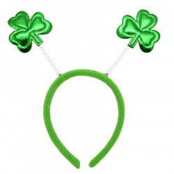Serre-tête Trèfles Brillants St-Patrick