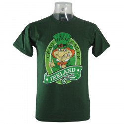 Ireland Dark Green Leprechaun T-shirt