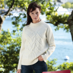 Out Of Ireland Unstructured Twists Ecru Sweater