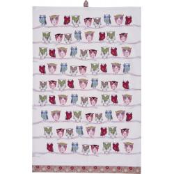Owls Tea Towel 48 x 74 cm