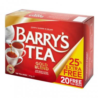Thé Barry's Gold Blend 80 sachets + 25% Gratuit