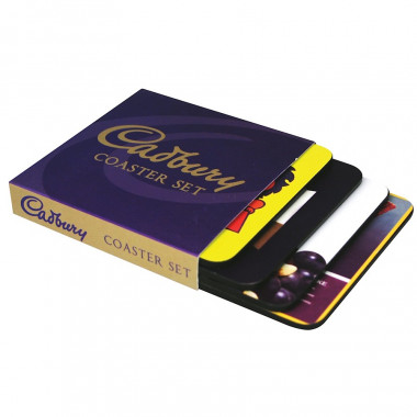 Cadbury Coaster Set (x4)  10 x 10cm