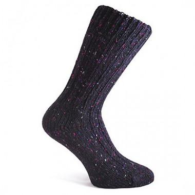 Mottled Dark Purple Short Socks